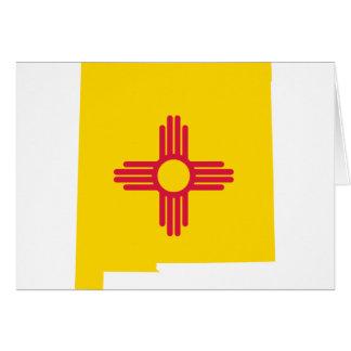 Cartão Mapa da bandeira de New mexico