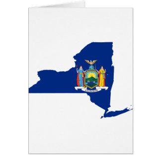 Cartão Mapa da bandeira de New York