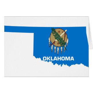 Cartão Mapa da bandeira de Oklahoma