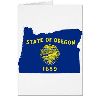 Cartão Mapa da bandeira de Oregon