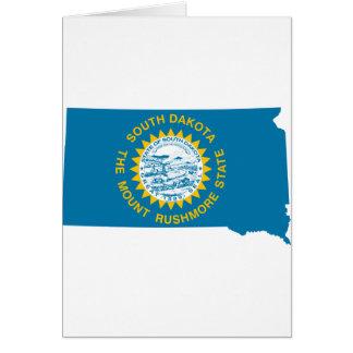 Cartão Mapa da bandeira de South Dakota