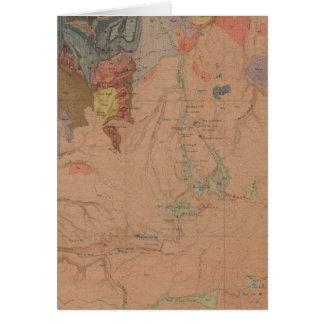 Cartão Mapa da geologia, peça nacional de Yellowstone,