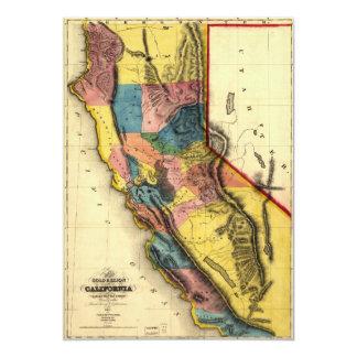 Cartão Mapa da região do ouro em Califórnia (1851)