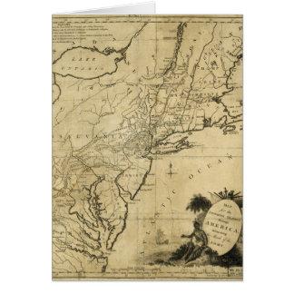 Cartão Mapa da Revolução Americana por Thomas Conder (c