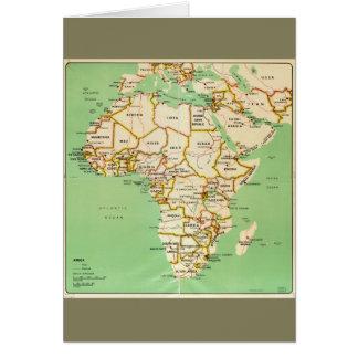 Cartão Mapa de África (1966)