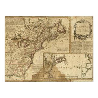 Cartão Mapa de América adiantada (1780)