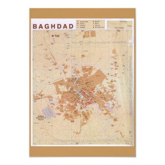 Cartão Mapa de Bagdade, Iraque (2003)