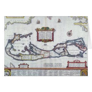 Cartão Mapa de Bermuda