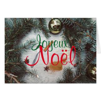 Cartão Mapa de Feliz Natal Decoração Abeto Bolas
