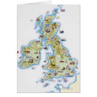 Cartão Mapa de ilhas britânicas