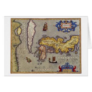 Cartão Mapa de Japão por Mercator e por Hondius, 1606
