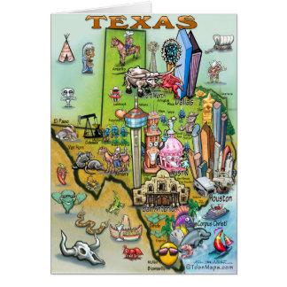 Cartão Mapa do divertimento de Texas