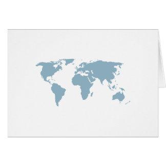 Cartão Mapa do mundo