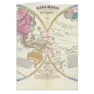 Cartão Mapa do mundo histórico 3