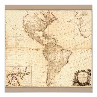 Cartão Mapa do norte & da Ámérica do Sul (1786)