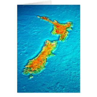 Cartão mapa do nz