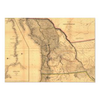 Cartão Mapa do território de Oregon (1844)