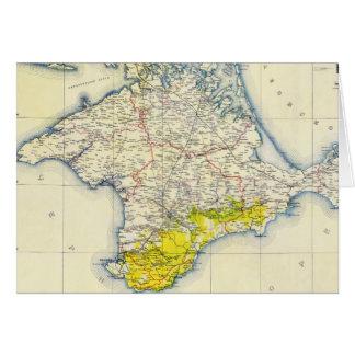 Cartão Mapa do vintage de Crimeia (1922)