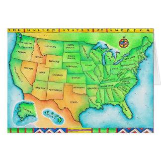 Cartão Mapa dos EUA