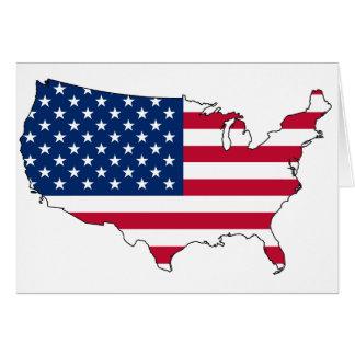 Cartão Mapa E.U. dos Estados Unidos