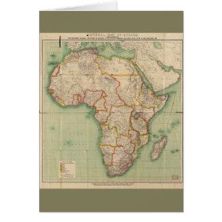 Cartão Mapa geral de África (1909)