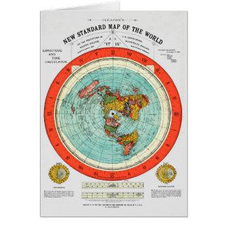 Cartão Mapa padrão novo da terra lisa Earther do mundo