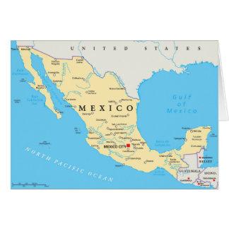 Cartão Mapa político de México