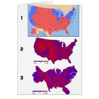 Cartão Mapas Democráticas do voto