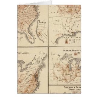 Cartão Mapas do recenseamento dos Estados Unidos, 1870
