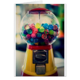 Cartão Máquina do brinquedo do bubblegum dos doces retro