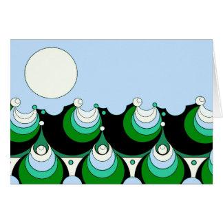 Cartão Mar e lua 1