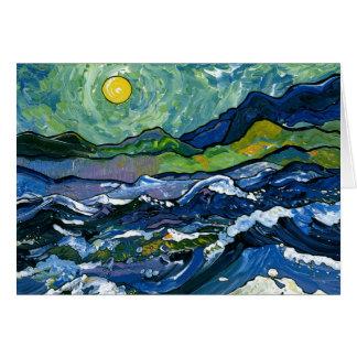 Cartão Mar tormentoso