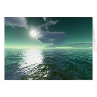 Cartão Mar tropical (cartão)