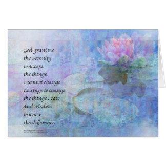 Cartão Maravilhas do lírio de água da oração da