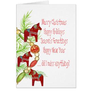 Cartão maravilhoso dos feriados