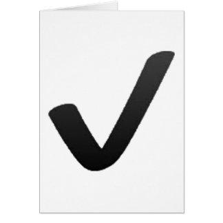 Cartão Marca de verificação preta - Emoji