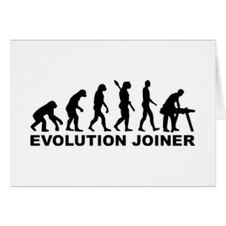 Cartão Marceneiro da evolução