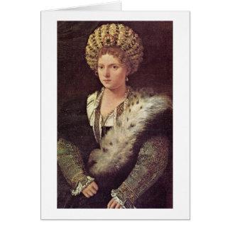 Cartão Marchioness de Isabella D'Este de Mantua por
