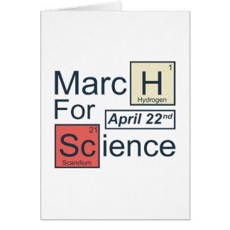 Cartão Março para a ciência