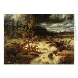 Cartão Marcus Larson - cachoeira em Smaland