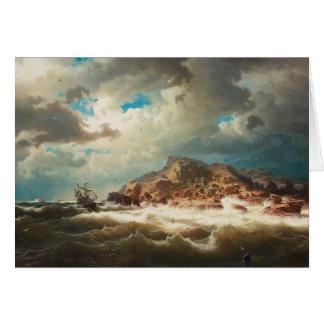 Cartão Marcus Larson - navio pela costa