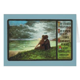 Cartão Mares Hath do Coração- de Longfellow é pérolas