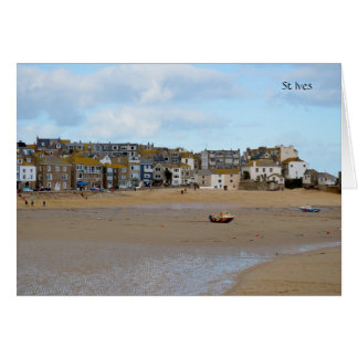 Cartão Marés para fora St Ives Cornualha Inglaterra
