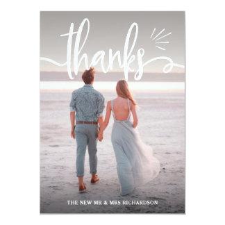 Cartão Mares tranquilos | obrigado do casamento de duas