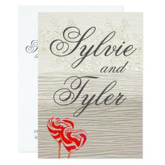 Cartão Marfim do pirulito do querido e textura floral