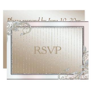 Cartão Marfim e cetim RSVP