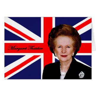 Cartão Margaret Thatcher - bandeira britânica