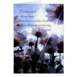 Cartão Margarida das citações da eternidade floral