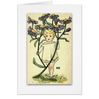 Cartão Margarida de Michaelmas bonita por NELLIE BENSON