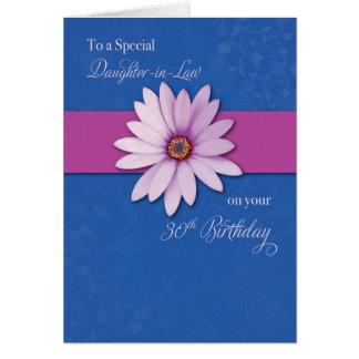 Cartão Margarida do aniversário de 30 anos da nora no
